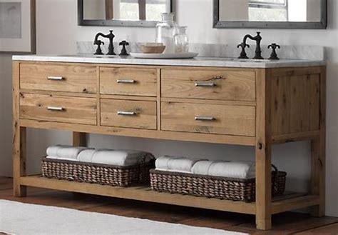 reclaimed wood bathroom vanity weathered wood bathroom vanities for a cottage style bathroom are introduced by homethangs
