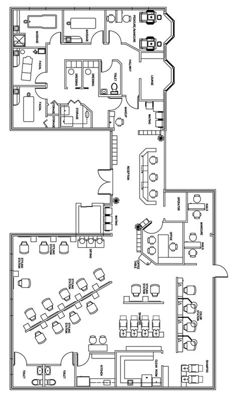Hair Salon Floor Plans by Salon Floor Plan Design Layout 3406 Square Foot