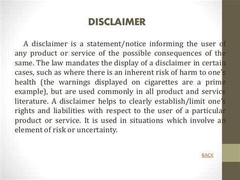 trademark disclaimer template startup registration documentation copyright