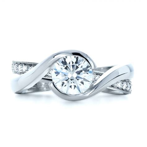 custom interlocking engagement ring 1169