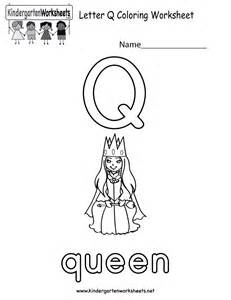 free printable letter q coloring worksheet for kindergarten
