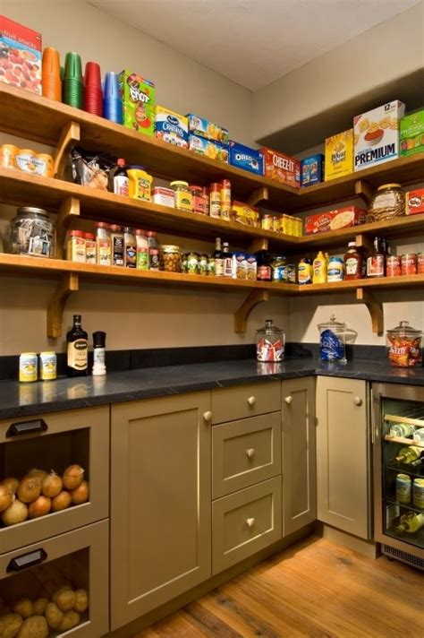 Open Pantry Shelves by Open Shelving Architecture Pantry Storage