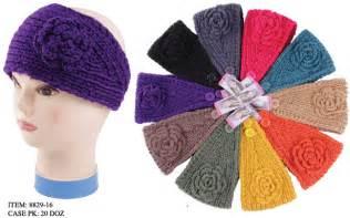 Motorcycle Apparel Headbands by Wholesale Flower Crochet Winter Headband Sku 1867224