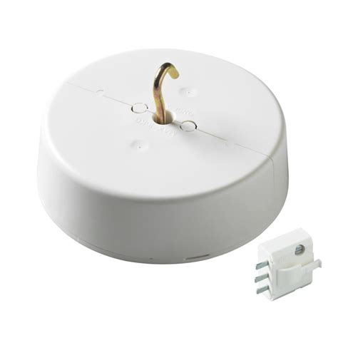 ceiling cover junction box with dcl l outlet surface