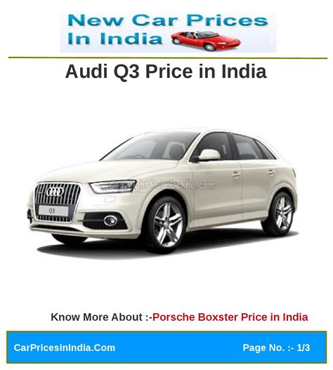 audi q3 price in india audi q3 price in india by manoj kumar issuu
