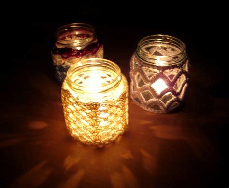 Pretty Jar Candles by Crochet Jar Cover Iii Lattice Effect Make My Day Creative