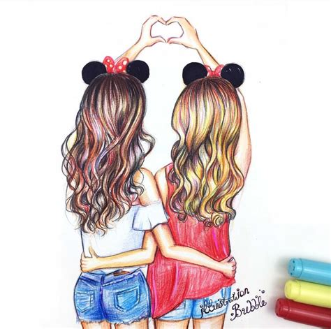 Drawing W Friends by Best Friends Forever Bff Drawings
