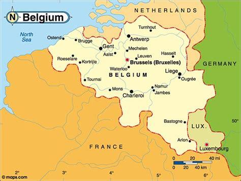 belgium on the map of europe destination belgium map of belgium