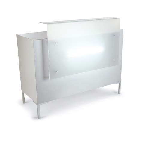 Yuka Salon Reception Desks Gamma Bross White Salon Reception Desk