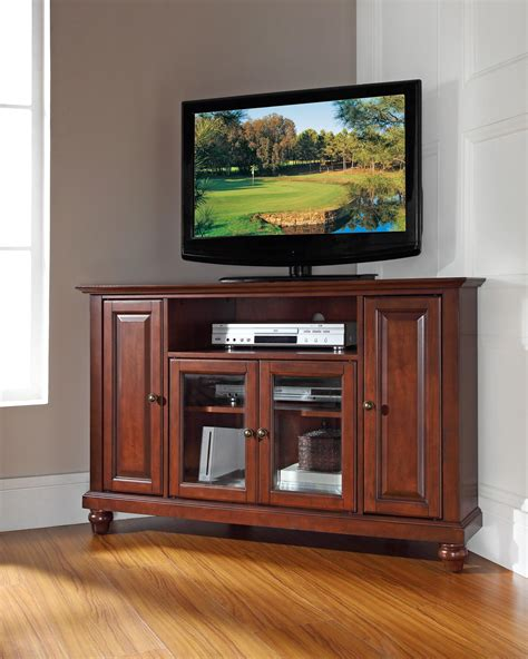 """Crosley Cambridge 48"""" Corner TV Stand by OJ Commerce $399.00"""