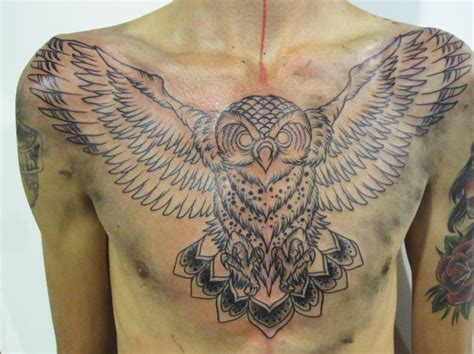 owl chest tattoo idea for a kickstarter welcome to the magical friendship