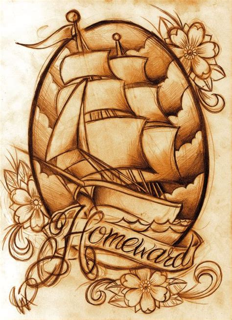 old ship tattoo designs i school ship tattoos sail the seas with