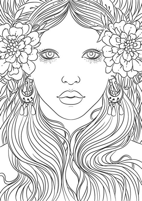images  beautiful women coloring pages