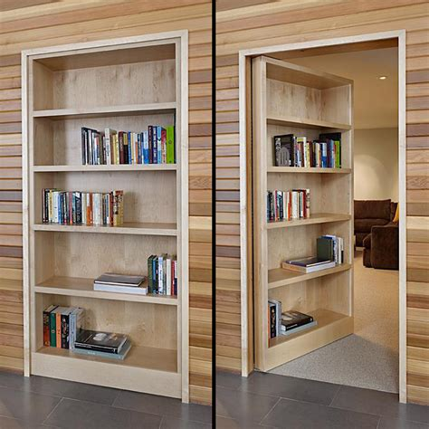 how to elegantly stage your secret room bookcase door by