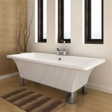 milan  modern square roll top bath victorian