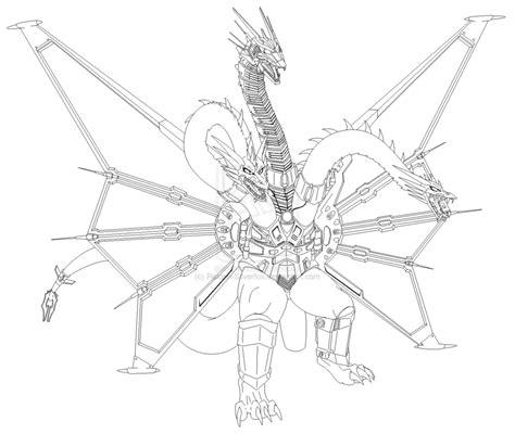 King Ghidorah Coloring Page | mecha king ghidorah coloring pages sketch coloring page