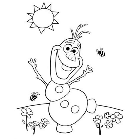 Olaf S Summer Coloring Page Disney Family Printable Olaf Coloring Pages