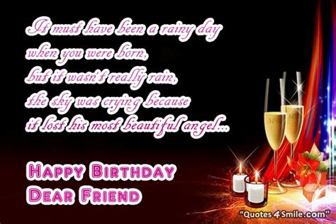 Rainy Birthday Quotes Happy Birthday Dear Friend Quotes Quotesgram