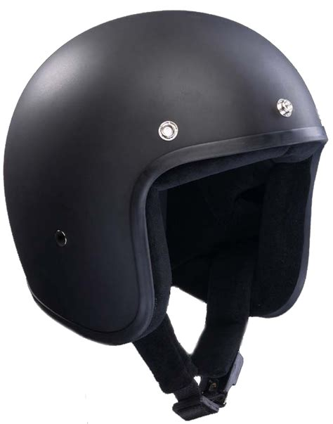 bandit design jet helmet bandit jet helmet matte black at thunderbike shop