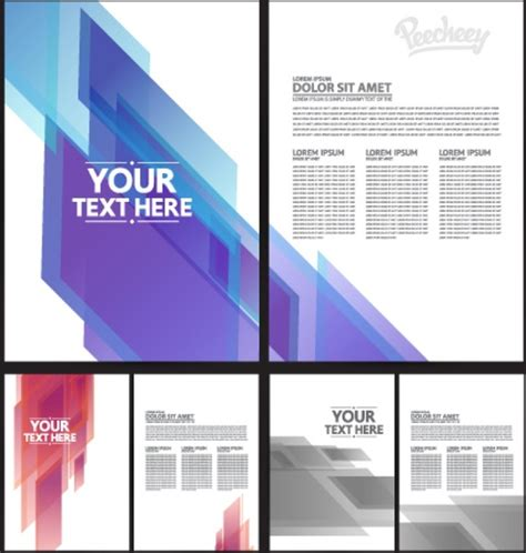 template brochure illustrator brochure template free vector in adobe illustrator ai