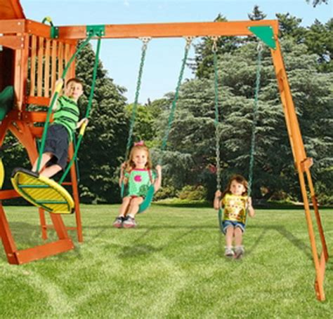 swing set with climbing wall new ultimate wood swing set 10 slide climbing wall ebay