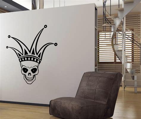 skull wall stickers stickonmania vinyl wall decals jester skull design