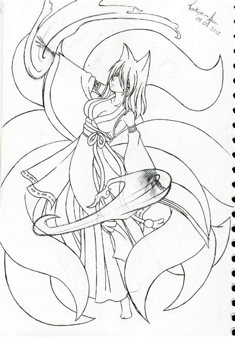 sexy anime fox coloring pages coloring pages anime nine tail fox coloring pages