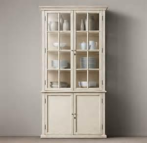 White And Oak Sideboard Hampton Casement Double Door Panel Sideboard Amp Glass Hutch