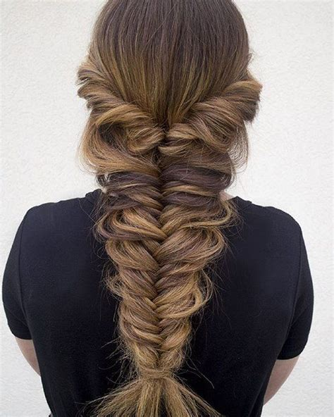 pinterest long curly fishbone tail picture with red curly hair thick messy fishtail braid pictures photos and images