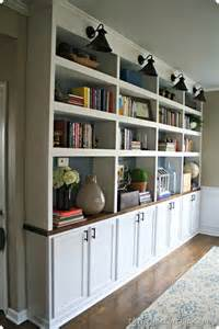 Built In Bookshelves Diy Diy Built In Bookcases Butcher Block Used Cabinets