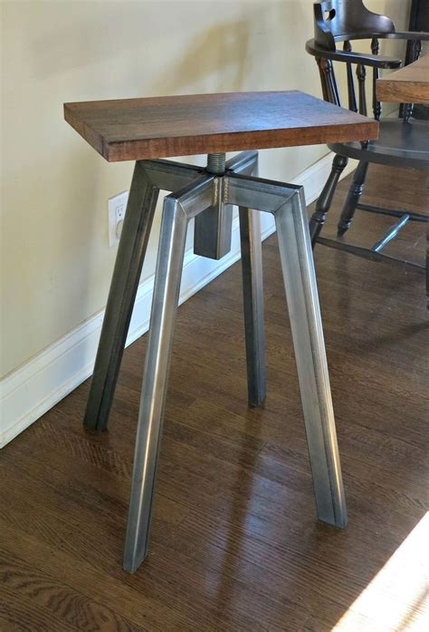 Custom Bar Stool by Crafted Industrial Inspired Bar Stool By Donald Mee