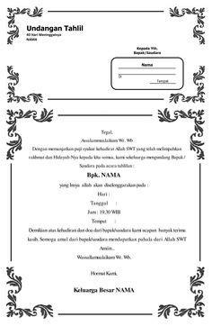 template undangan tahlil doc download contoh undangan aqiqah dengan ms word terbaru