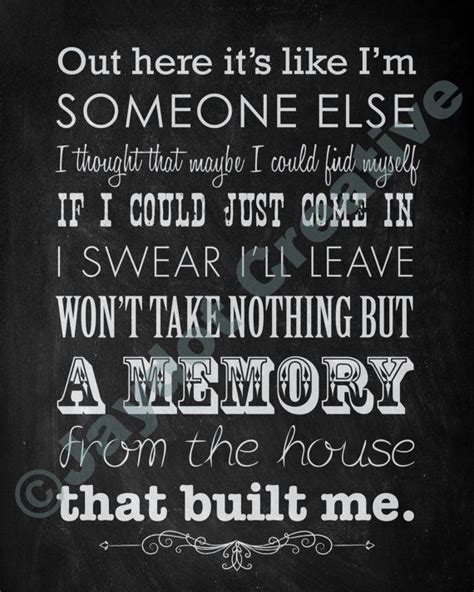 house that built me lyrics printable miranda lambert quot house that built me quot lyrics artwork