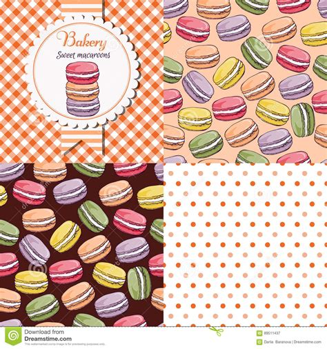 Seamless Patterns With Gingham Polka Dot Iphone Semua Hp macaroon collection set stock vector image of card decoration 89511437