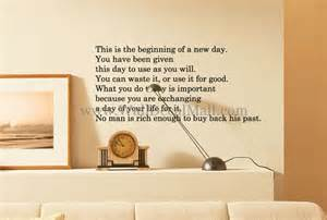 Marilyn Monroe Wall Sticker this is thebeginnig of a new day quotes wall decals