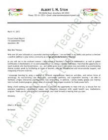 sle teaching cover letters for new teachers sle cover letter for new teachers best resume for ex