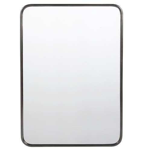Oil Rubbed Bronze Mirror For Bathroom - 30 quot x 42 quot metal framed mirror rounded rectangle rejuvenation