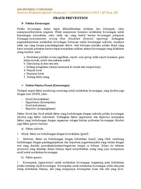 Resume Fraud by Resume Pencegahan Fraud