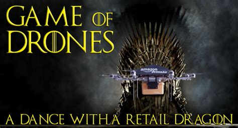 Drone Puns of drones a with a retail