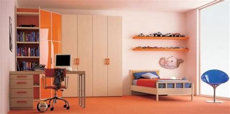 boy room design india dormitorios juveniles decorados color naranja