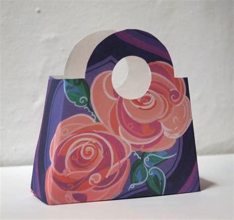 pattern paper bags free printable handbag style gift bag template