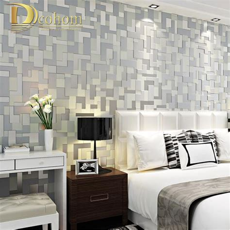 aliexpress com buy modern flocking abstract embossed high quality 3d mosaic lattice wall paper europe modern
