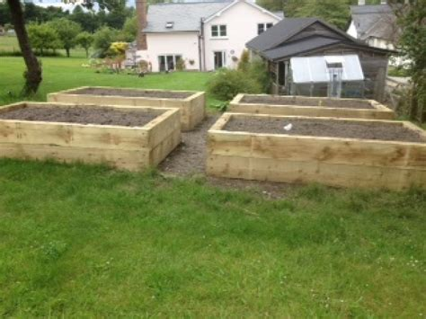 Railway Sleepers New by Four Raised Beds From New Eco Pine Railway Sleepers