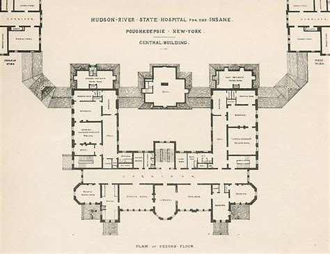 mental hospital floor plan hudson river state hospital fourteen decades of mental