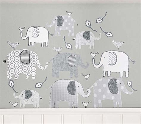 pottery barn elephant rug nursery wall decals with modern flair