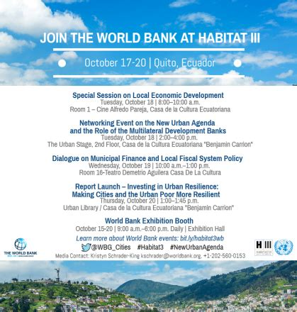 world bank activities habitat iii the 3rd united nations conference on housing