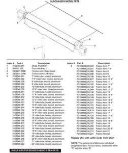 laurelhurst distributors parts breakdown awnings