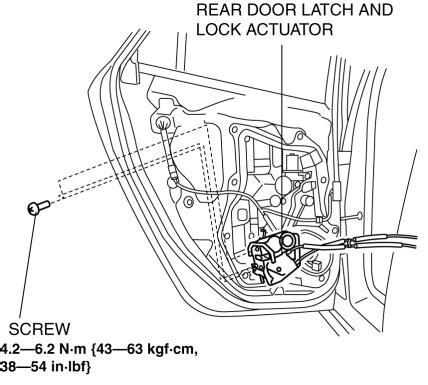 Mazda 3 Service Manual Rear Door Latch And Lock Actuator