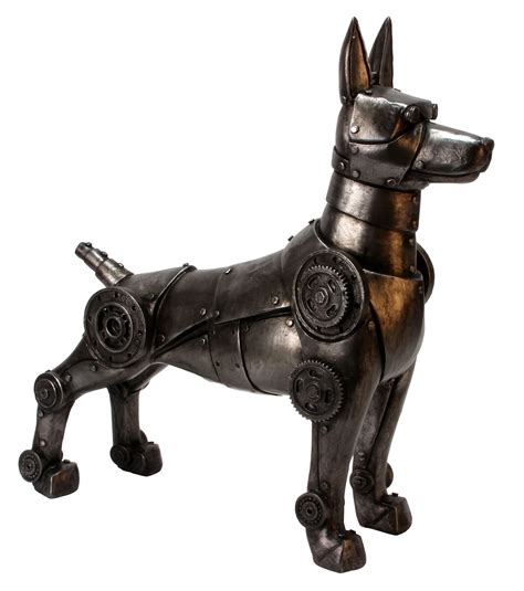 robot puppies futuristic robot mechanical figurine cyborg robotic armour plated ornament ebay