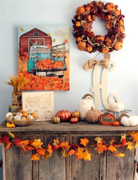 diy rustic fall mantel decor with kirklands